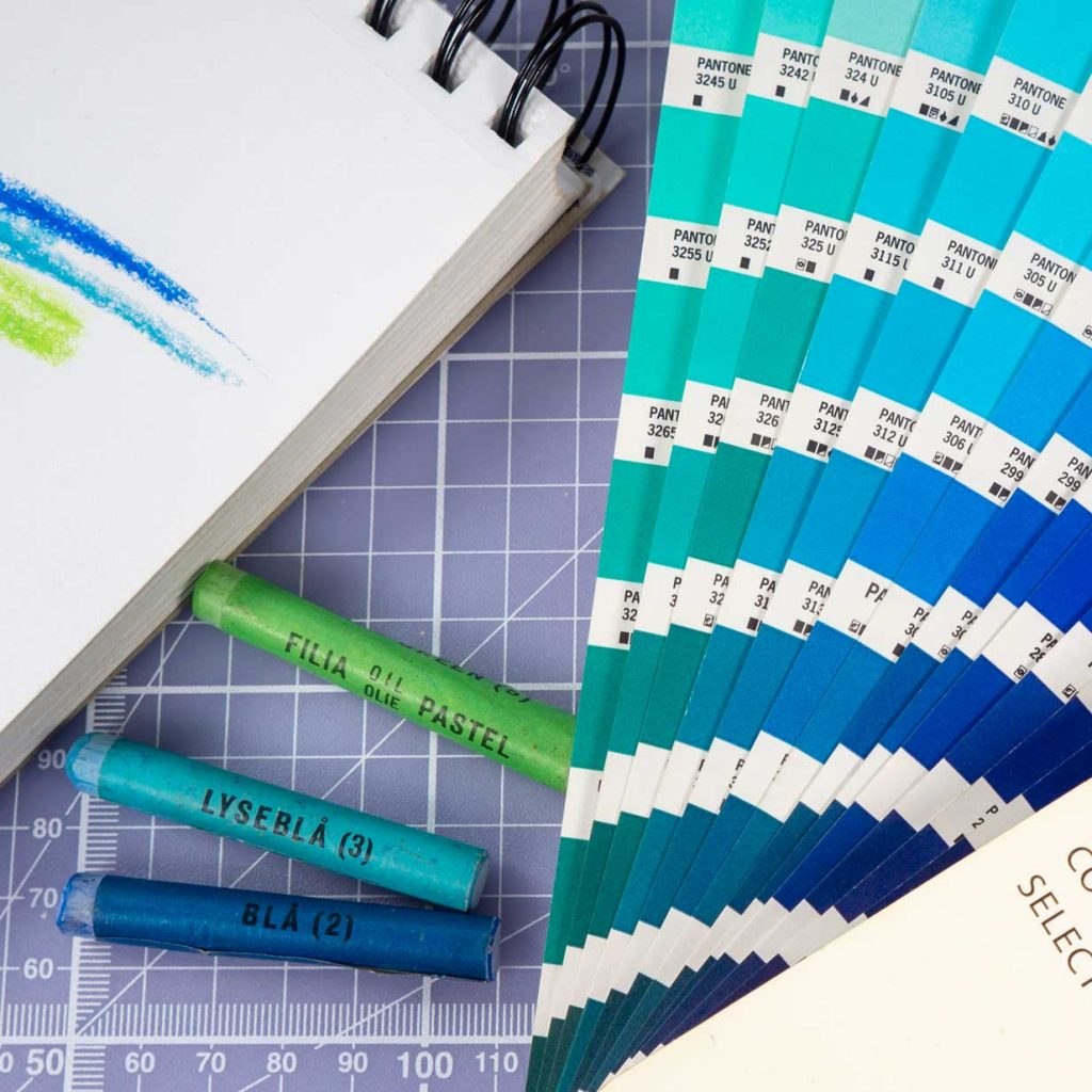 Pantone, grafisk design, motion design, illustrationer, foto ny hjemmeside