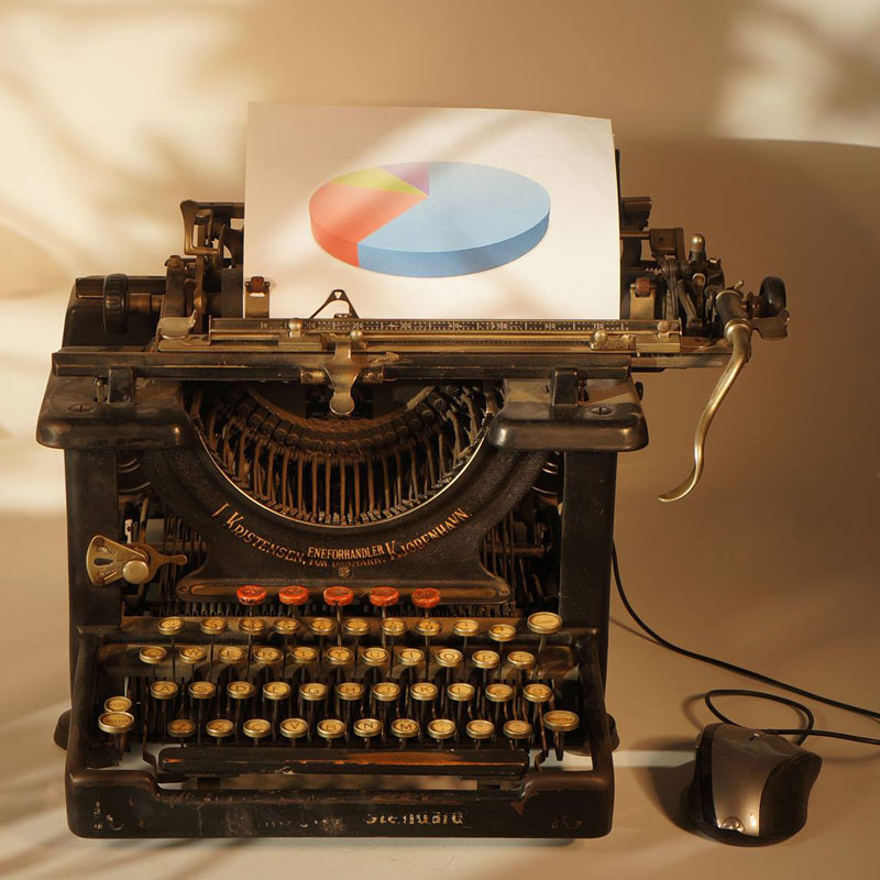 Skrivemaskine eksperttest webdesign ny hjemmeside